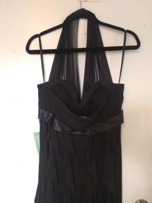 DJ-Jaz Ladies' Halter Ruffle Black Evening Gown for Sale in Washington, DC