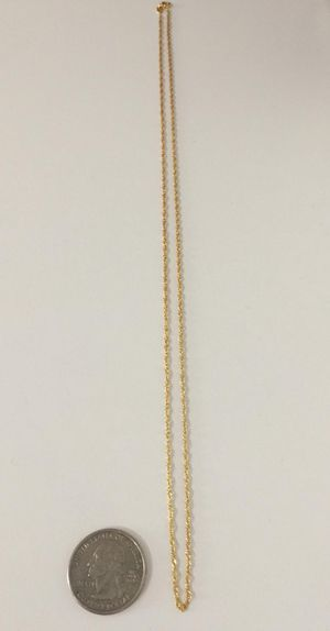 24 inch 925 Italian Sterling Silver Singapore 24k gold plated for Sale in La Puente, CA