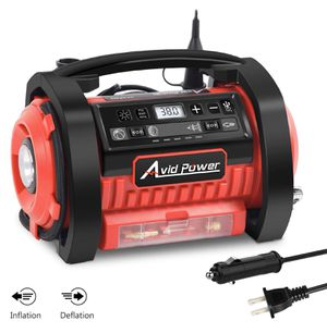Tire Inflator Air Compressor, 12V DC / 110V AC Dual Power Tire Pump with Inflation and Deflation Modes, Dual Powerful Motors, Digital Pressure Gauge for Sale in Lake Forest, CA