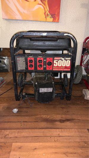 Coleman powermate 5000 maxa ER plus portable electric generator for Sale in San Antonio, TX