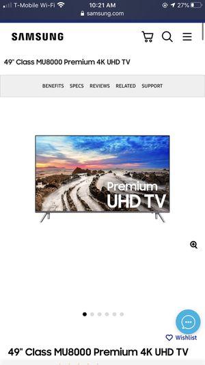 Samsung 49inch 4K UHD Flat Screen TV for Sale in Lutz, FL