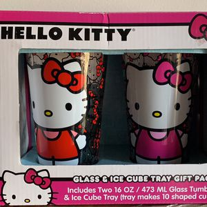 Hello Kitty Glass & Ice Cube Tray Gift Set for Sale in Arlington, VA