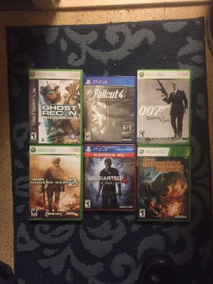 FOUR XBOX 360 Games & TWO PlayStation 4 games for Sale in Portland, OR