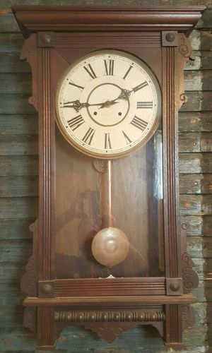 Antique Waterbury Railroad Wall Clock for Sale in McKeesport, PA