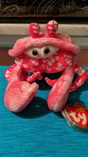 Ty Beanie Baby Sunburst the Pink Crab for Sale in McKeesport, PA