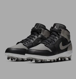 Jordan 1 cleats black gray white size 9.5 new, never worn. No box. for Sale in Irving, TX