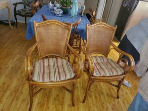Tommy Bahamas Pair of bamboo chairs for Sale in Los Angeles, CA