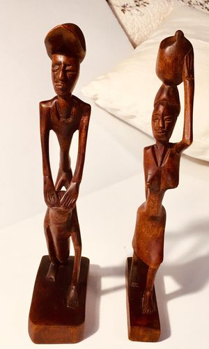 Wooden carved man and women for Sale in Chesterfield, VA