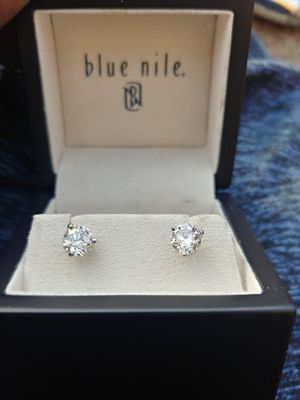 1 karat Diamond earrings GIA CERITFIED for Sale in San Francisco, CA
