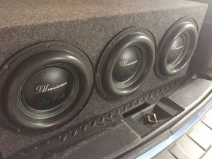 TRIPLE THREAT BASS !!! 🔊🔊🔊 Mrmusicman 3x10 Big Daddy subwoofers for Sale in Tempe, AZ