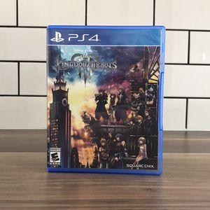 Kingdom Hearts 3 PS4 for Sale in Riverside, CA
