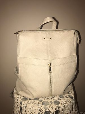 Cream leather backpack (multi pocketed) - price not negotiable - pick up only for Sale in Germantown, MD