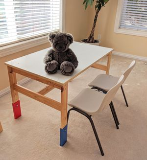 Kids table and chairs, adjustable height for Sale in Portland, OR