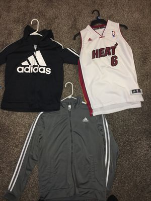 Adidas lebron Jersey and 2 hoodies all Large youth for Sale in Lebanon, TN