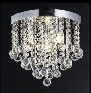 Crystal Chandelier, Modern Chandeliers Crystal Ball Light Fixture, 3 Lights Hallway Bedroom for Sale in Frisco, TX