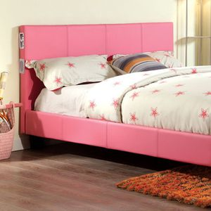 """""""Pretty in Pink"""" NEW Queen bed frame with bluetooth speakers. for Sale in Denver, CO"""