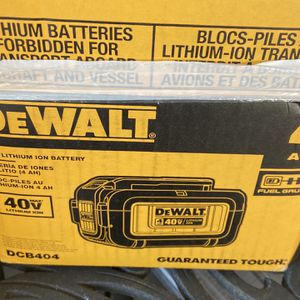 DeWalt 40V Lithium Battery And Charger for Sale in North Brunswick Township, NJ