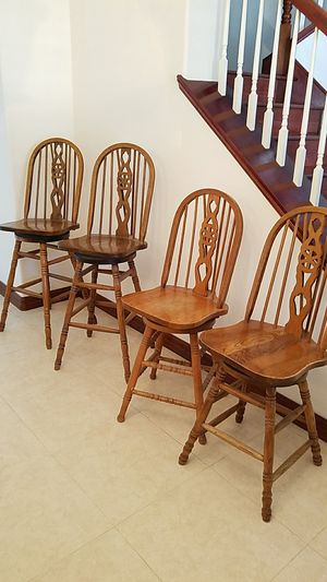 Acorn swivel bar & counter stool solid wood. for Sale in Fontana, CA
