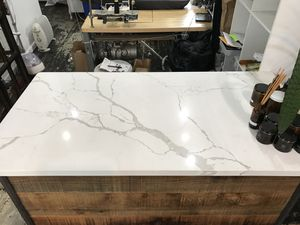 Custom Marble/wood workspace with shelves in the back. Great for retail space or home. for Sale in Philadelphia, PA