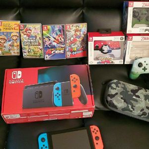 Nintendo Switch V2 Bundle for Sale in Stonewall, OK
