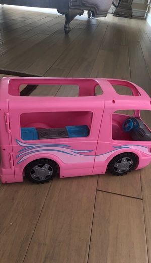 Barbie Camper Van With Kitchen and Tv inside for Sale in Tracy, CA