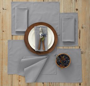 8-pc {service for four} placemat and napkin set in light gray. $10 for Sale in Bourbonnais, IL