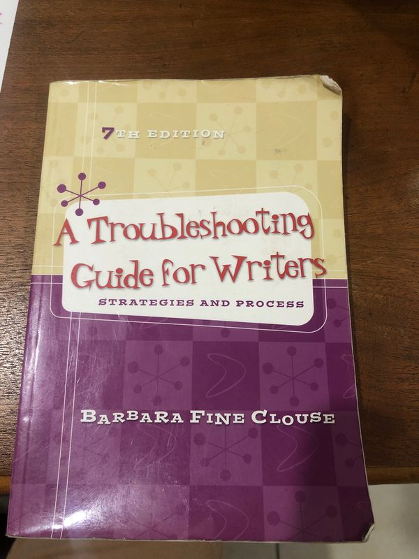 A troubleshooting guide for writers