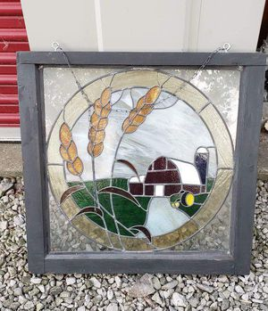 Vintage/ Antique Stain Glass Sun Catcher Window for Sale in Lorain, OH