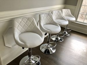 New 4 white modern bar stools for Sale in Harrisburg, NC