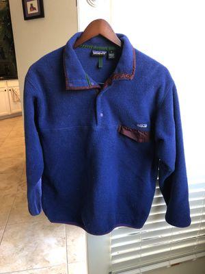 Patagonia men's synchilla fleece size L blue for Sale in Phoenix, AZ