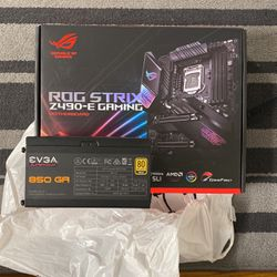 ASUS Z490 ROG STRIX-E Gaming Motherboard And EVGA 850w GA Fully Modular PSU for Sale in Queens,  NY