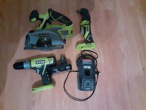 Ryobi 18 volt plus one drill - circular saw for Sale in Lutz, FL