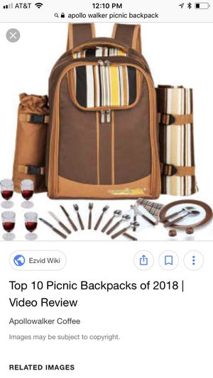 Apollo Walker picnic backpack for Sale in Berryville, VA