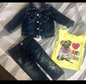 Lot of Baby Girls Jeans Jacket Size 18 mo months for Sale in Phoenix, AZ