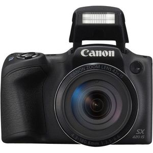 Excellent Canon PowerShot SX420 IS Digital Camera, 20 Megapixel with 42x Optical Zoom, Wi-Fi, NFC, 1068C001 - Black for Sale in Brooklyn, NY
