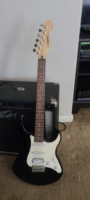 Nice yamaha eg112c electric strat guitar. Plays great with bag and tuner for Sale in Riverbank, CA