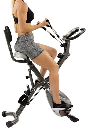 Exercise Bike with resistance bands for leg and arm workouts, stationary bike gym equipment for Sale in San Diego, CA