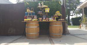 Cut oak wine barrels for Sale in Yorba Linda, CA