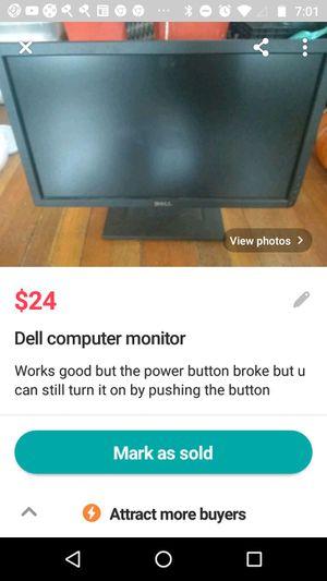 Dell computer monitor for Sale in Spokane, WA