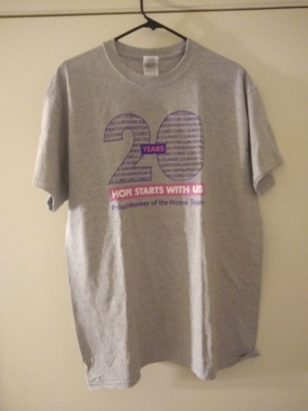 Walk for Hope t-shirt size L