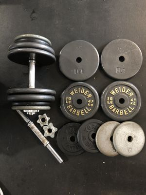 Adjustable dumbbells total 130 lbs weight for Sale in Kent, WA