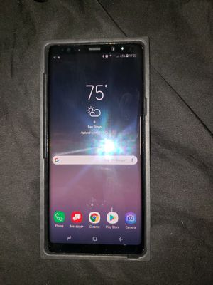 Verizon Samsung Galaxy Note 8 with belt clip holster case and Zagg Invisible Shield for Sale in San Diego, CA
