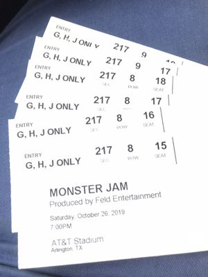 Monster Jam Tickets Saturday October 26th $40 -$45 for Sale in Hurst, TX