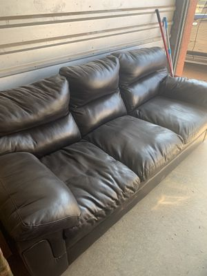 Faux leather couch for Sale in Phoenix, AZ
