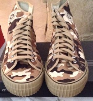 New pf flyers camo sizes 8, 11, 12, $40 each for Sale in Fort Pierce, FL