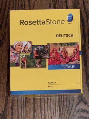 Rosetta Stone German Deutsch Level 1 Version 4 All Software No Headphones for Sale in Elmhurst, IL