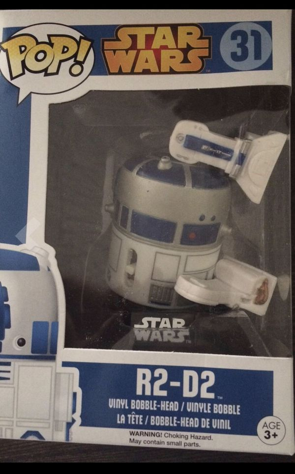 starwars funko pop collectable r2d2