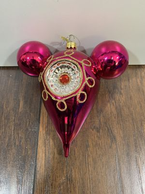 Disney Blown Glass Ornament New with Tag for Sale in Dahlonega, GA