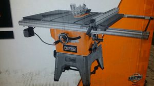 Ridgid cast iron table saw 10 in for Sale in Puyallup, WA