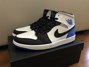 New Nike Air Jordan Retro 1 Mid SE Royal Black Toe Men's 11.5 Shoe 852542-102 for Sale in Santa Clara, CA